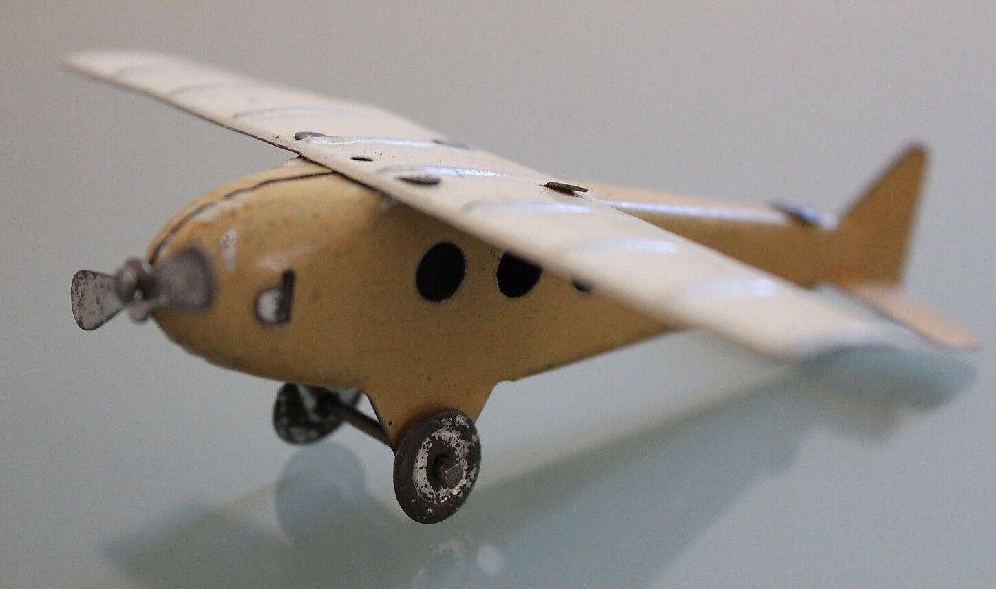 Spielzeug Antik Datenblatt Flugzeug Penny Toy 10 cm Zweifarbig Jahre 50