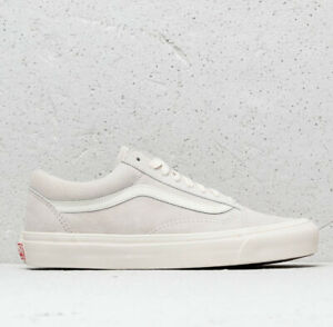 Details about VANS Vault OG Old Skool LX Leather Suede Sneakers Marshmallow Grey VN0A36C8UN5