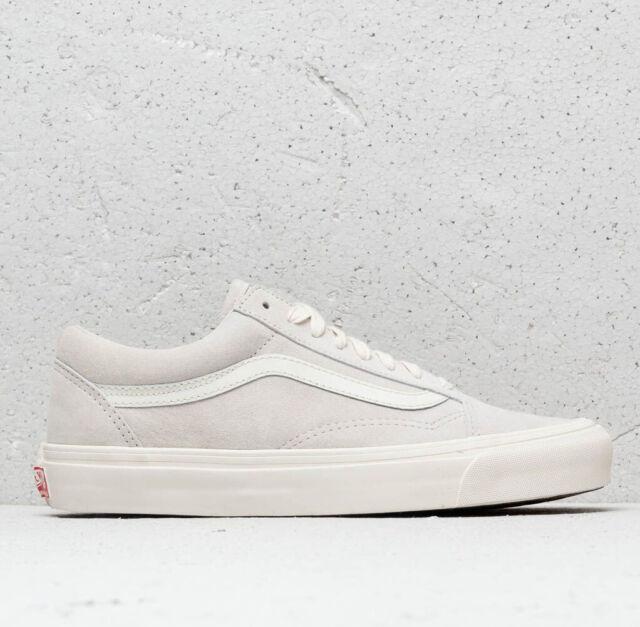 VANS Vault OG Old Skool LX Leather Suede Sneakers Marshmallow Grey VN0A36C8UN5