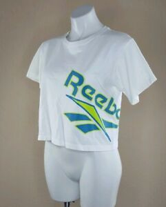 Vintage-Reebok-Crop-Top-90s-Women-039-s-Size-Small-Made-in-USA-Spell-Out