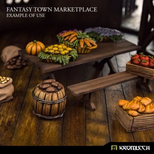 Kromlech Fantasy Town Marketplace Set 2 Brand New KRBK064