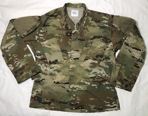 Camouflage-Military-Issue-Combat-Coat-Jacket-Field-US-Army-Mens-Size-Medium