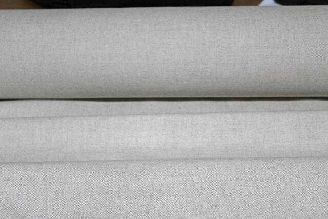natural linen union fabric sold per metre 142cms 60% linen 40% cotton