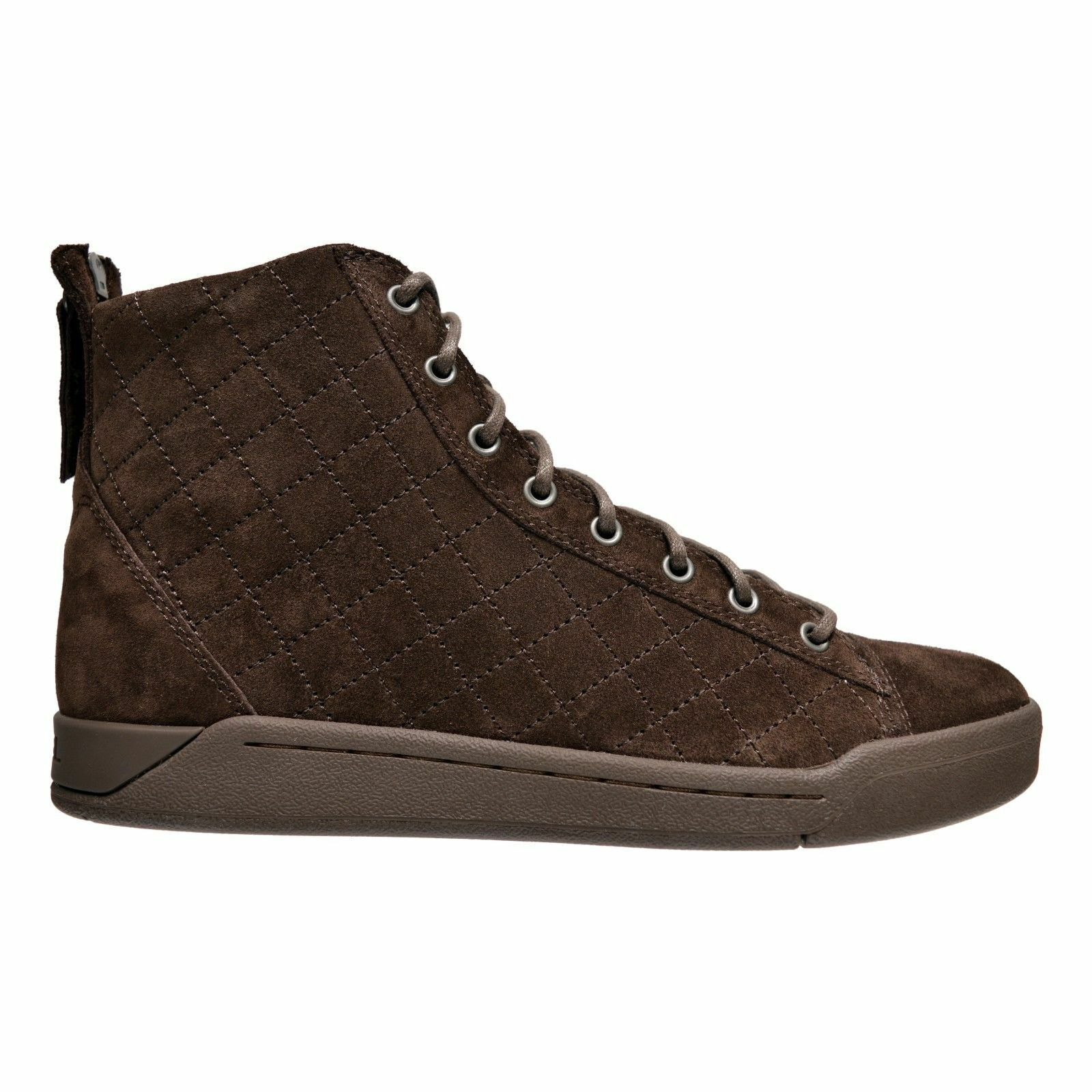 Men's Diesel Tempus Diamond Suede High Top Sneakers Brown
