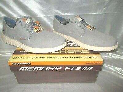 En honor frutas tolerancia  SKECHERS Relaxed Fit Vintage Washed Canvas Shoes (Borges) in Gray,Size 12 |  eBay