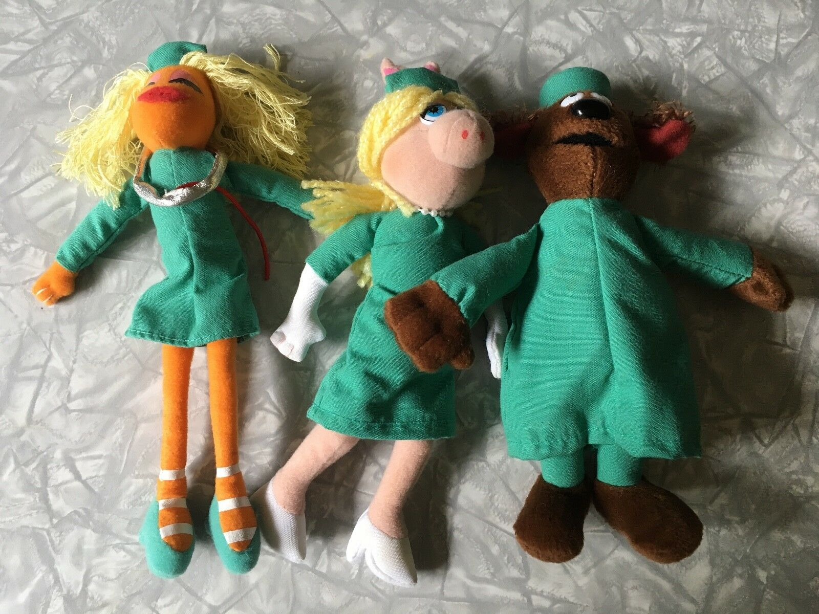 2003 Sababa The Muppets Veterinarians Hospital plush set Rowlf Janice Miss Piggy
