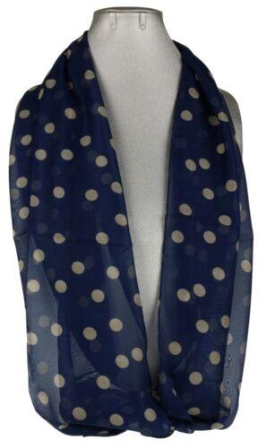 Womens Polka Dots Scarf Circles Bubble Long Soft Neck Stole Fashion Ladies