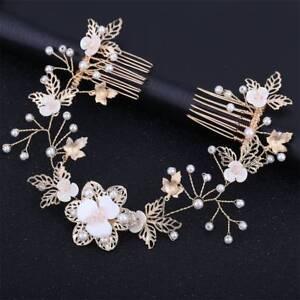 Hair-Accessories-For-Women-Pearl-Flower-Leaf-Hairband-Wedding-Bride-Tiaras-Crown