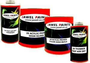 buy online b2581 29296 Details about 2K ACRYLIC CAR PAINT & PRIMER VOLKSWAGEN SCHWARZ BLACK MATT  (NO GLOSS) 4lt kit