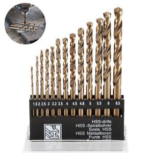 13Pc-1-5mm-6-5mm-Twist-HSS-High-Speed-Cobalt-Steel-Kit-Metric-Drill-Bit-Tool-Set