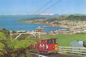 New-Zealand-Postcard-The-Kelburn-Cable-Car-Wellington-N-Z-75Z
