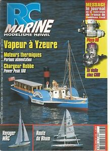 RC-MARINE-N-143-VAPEUR-A-YZEURE-MOTEURS-THERMIQUES-CHARGEUR-ROBBE-VOYAGER