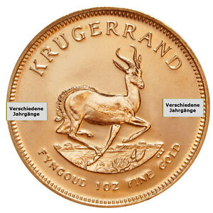 1 oz Gold Krügerrand Südafrika Goldmünze Verschiedene Jahrgänge