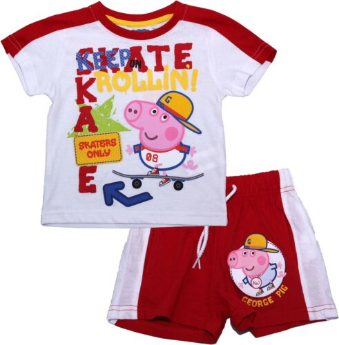Peppa Pig George Skating Short Sleeve Pyjama Set