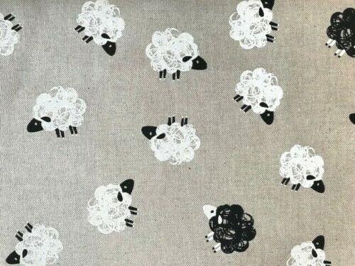 Ovejas ovejas negras en Aspecto Natural Lino Algodón Craft Bolso Cortina Tapicería