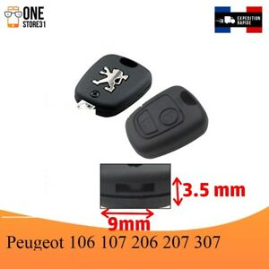 Boitier-Coque-telecommande-cle-plip-pour-Peugeot-106-107-206-207-307-9mmx3-5