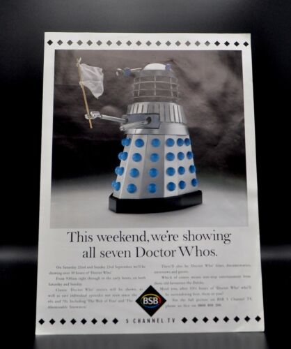 Doctor Dr Who; BSB 5 Channel TV Advert featuring Dalek with White Flag