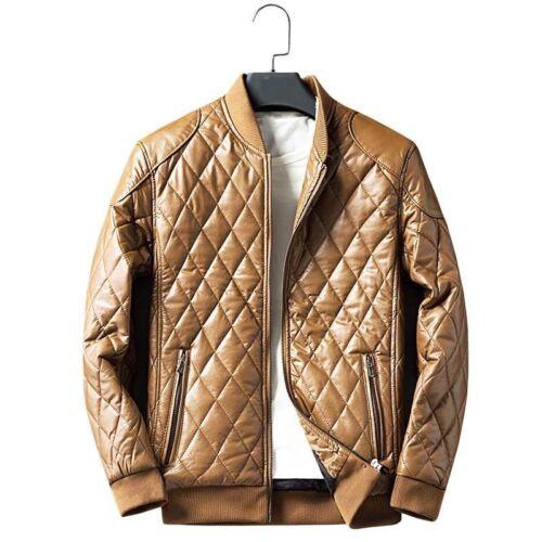 Mens Warm Plus velvet Leather Jacket Winter Thicken Coat Overcoat Casual Outwear