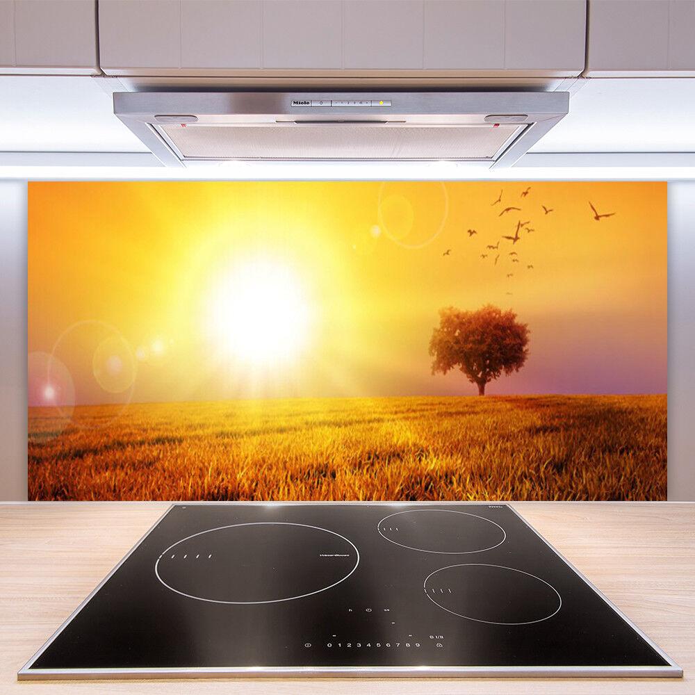 Heng aime Noël, la chaleur du coeur Crédence de en cuisine en de verre Panneau Paroi 100x50 Paysage Prairie abc9e2
