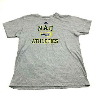 Adidas NAU LUMBERJACKS Shirt Size L Large Loose Fit Men's Gray Heather Tee NCAA