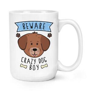 Beware-Locas-Perro-Nino-426ml-Grande-Taza-Divertido-Cachorro-Mascotas-Animales