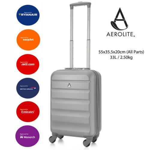 Aerolite Lightweight ABS Hard Shell 4 Wheel Spinner Hand Cabin Luggage Suitcase