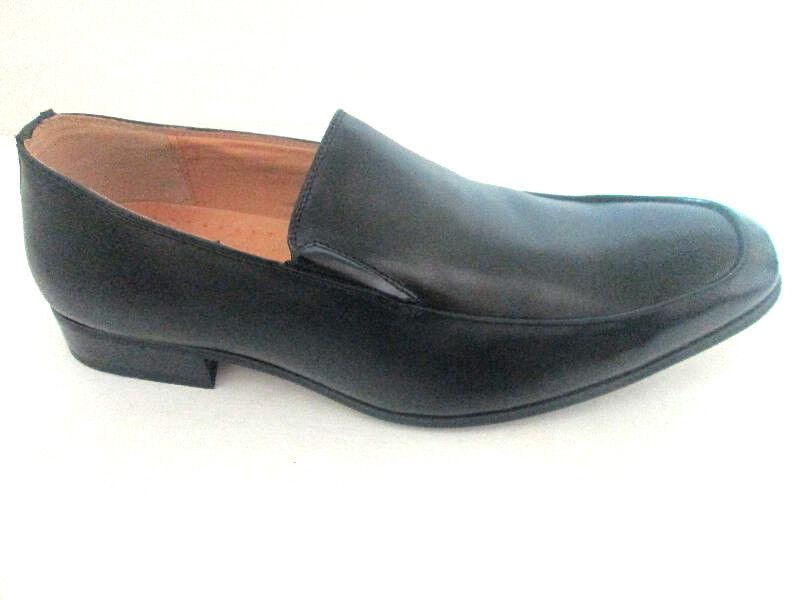 a090c256b7ead NXT Leather men's Dress shoes Slip on BLACK-N2221-Stretch top ...