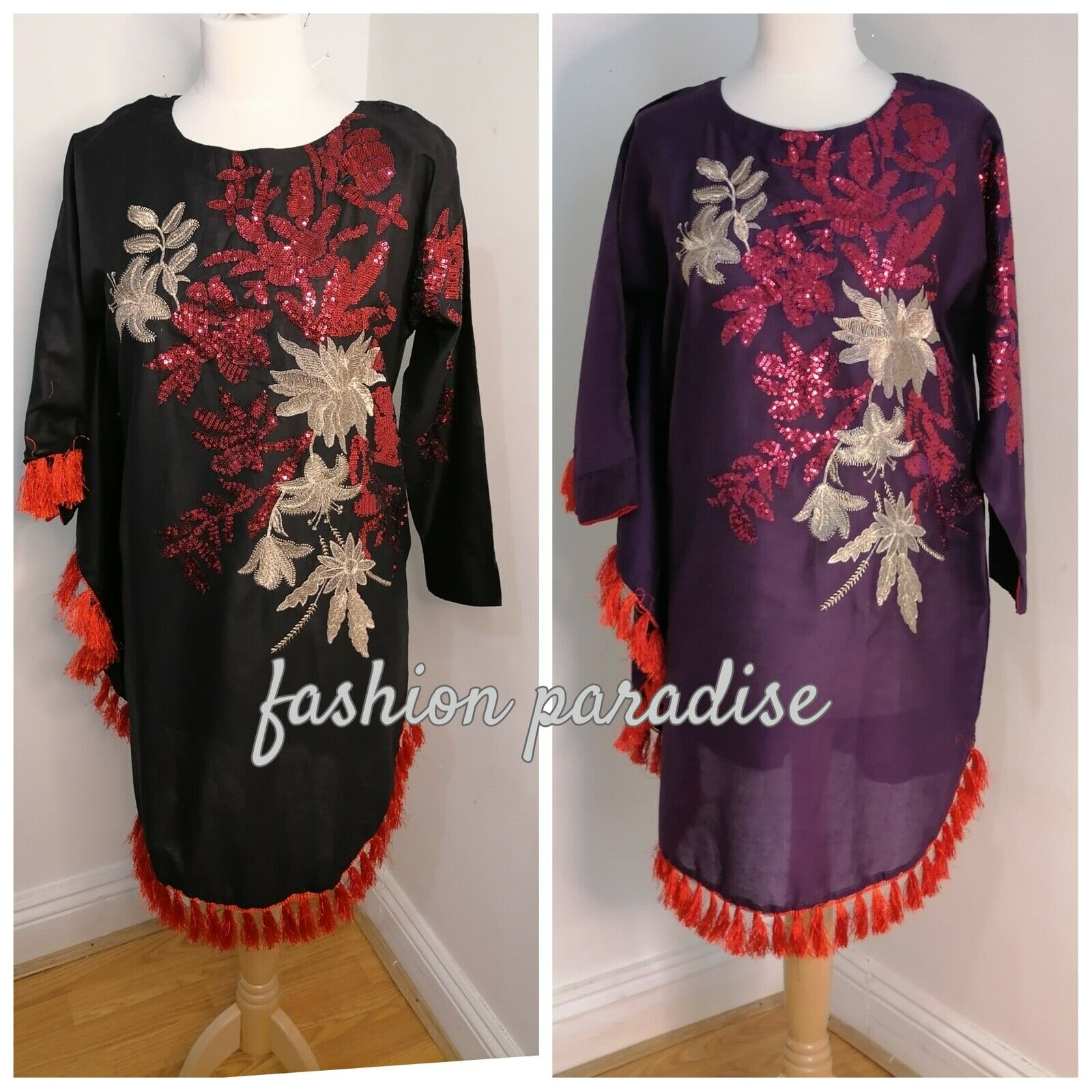 designer style kaftan embroidered ladies/women shirt/tunic/top Medium size