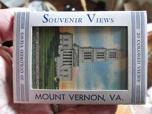 SOUVENIR-LINEN-COLOR-CARD-PACK-MOUNT-VERNON-VA-20-MINIATURES-B-S-REYNOLDS
