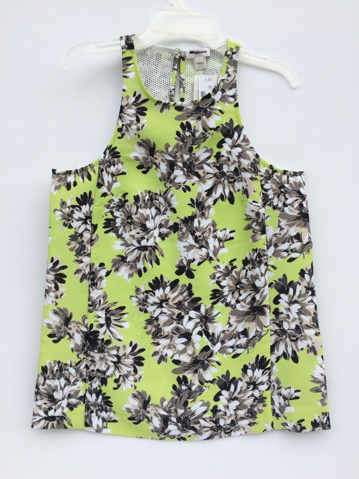 J. Crew Collection Kiwi multi Floral Top 0