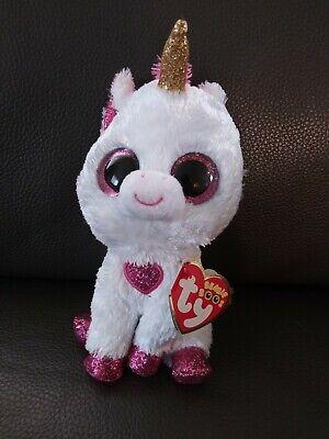 Exclusive MWMT Ty Beanie Boos ~ CHERIE Valentine Unicorn 9 Inch Medium Buddy
