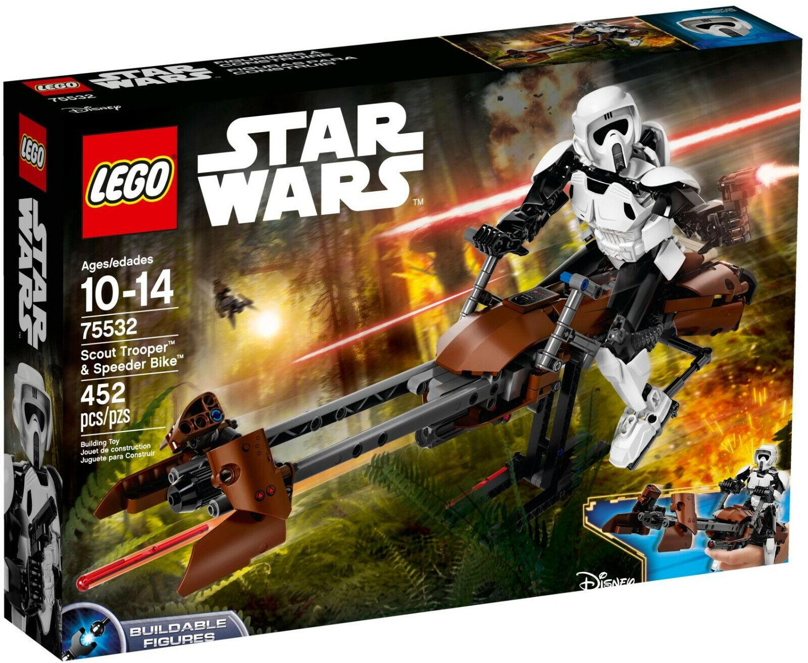 LEGO estrella guerras 75532 Scout Trooper & Speeder Bike-Sigillato Nuovo  di zecca e  Spedizione gratuita per tutti gli ordini