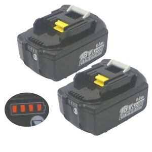 2PCS18V-Battery-6AH-6000mA-for-MAKITA-BL1860-Power-Tool-Battery-BL1850-BL1840