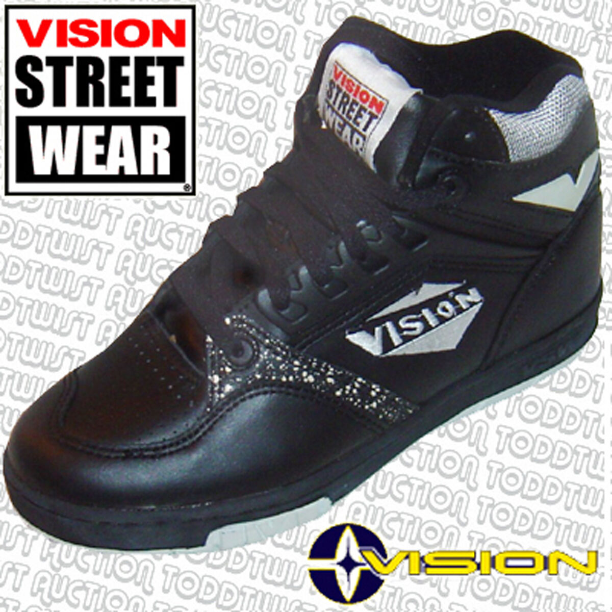 VISION STREET WEAR ms17000 Skateboard Schuhe - UK Original 7/ USA 8 - Original UK '80s Jahre 017b58