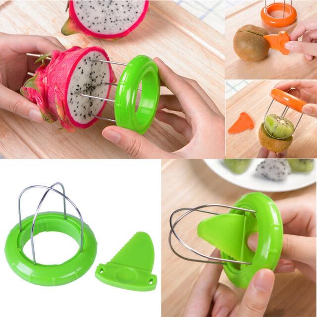 Home Kitchen Multifunction Kiwi Fruit Cutter Peeler Slicer Gadgets Tool New