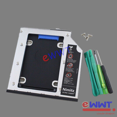 for HP ZBook 15 G1 G2 Laptop Universal 2nd HDD Hard Drive Caddy w// Bezel ZVOT805