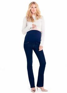 Ingrid & Isabel Maternity Kate Slim Boot Fit Sculpting Denim, Indigo Jeans 26 XS