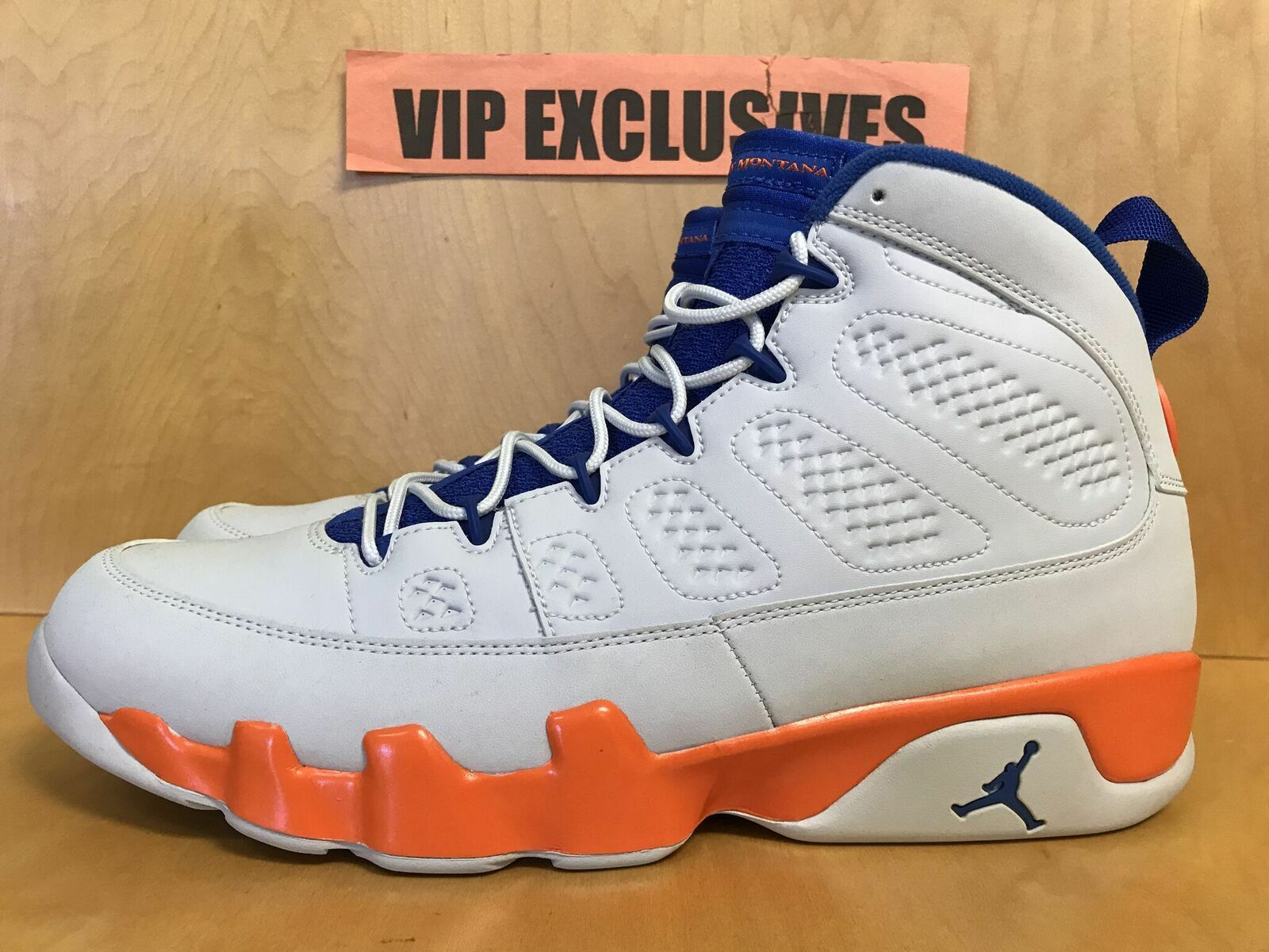 cheap for discount 3ee1b 492a9 ... NIKE AIR AIR AIR JORDAN RETRO 9 IX FONTAY MONTANA white royal bluee  orange 302370 040 ...
