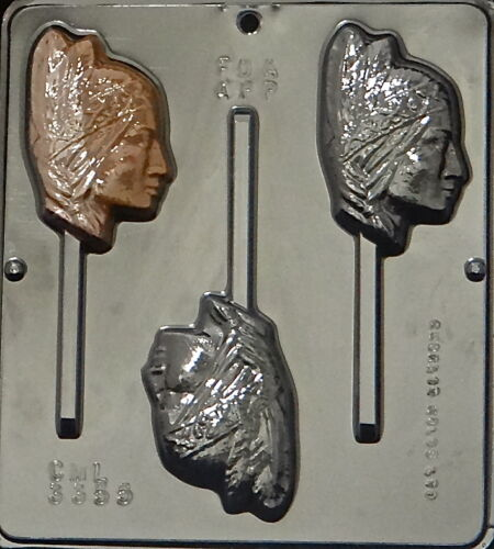 Indian Squaw Lollipop Chocolate Candy Mold  3355 NEW