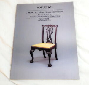 Sotheby S New York February 1985 Important American Furniture Auction Catalog Ebay