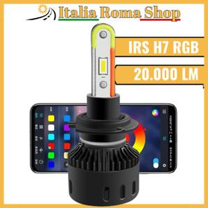 Coppia Di Lampade Led MULTICOLORE Per Auto Moto RGB H7 SMART 6000K APP 20.000 LM