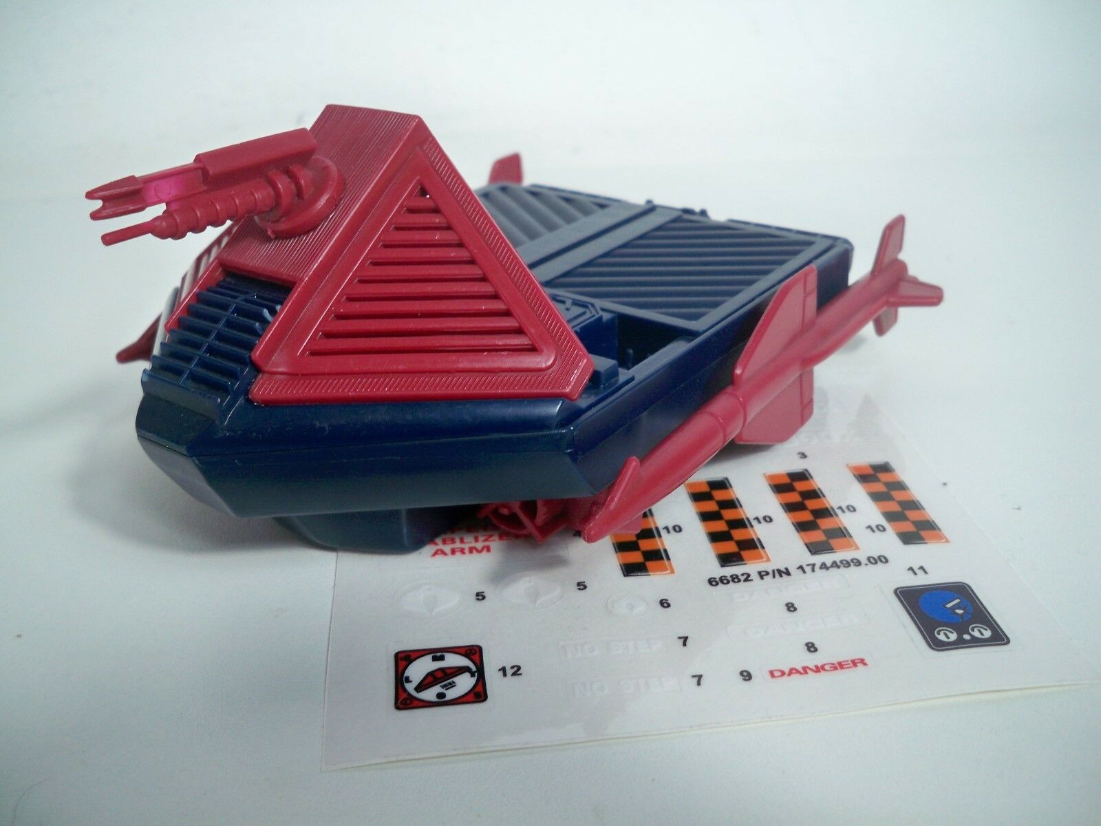 K197412 HYDROSLED W REPRO DECALS 1986 GI JOE COBRA 100% COMPLETE VINTAGE