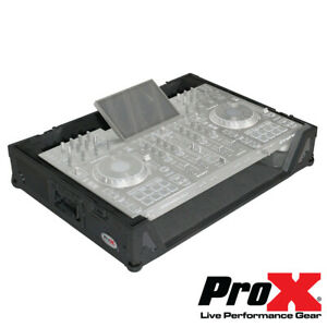 Glorieux Prox Xs-prime 4 Formation Par Le Travail Denon Prime 4 Dj Controller Flight-road Case W Roues Noir-afficher Le Titre D'origine