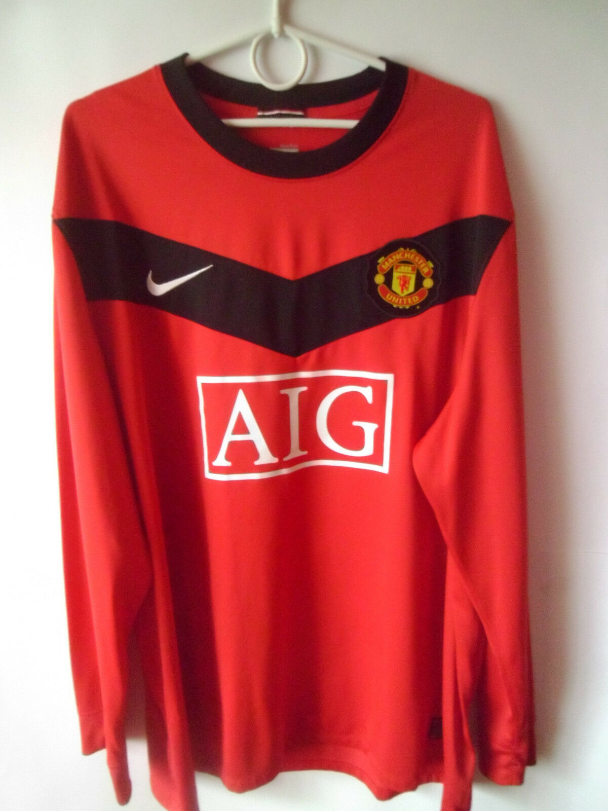 EXCELLENT     2009-10 Manchester United Home Shirt Jersey Long Sleeve Trikot XXL