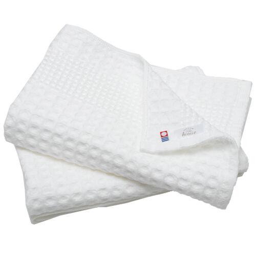 Hiorie Imabari Waffle Fast Drying Bath Towel 2 Sheets 100/% cotton  Japan Gift