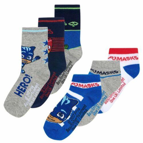 3-er Pack SockenSneakersockenPyjamaheldenPJ MasksStrümpfe 23-34
