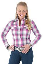 Wrangler Rock 47 Womens Purple Grey Rhinestone Snap Western Shirt Lj5121m Nwt