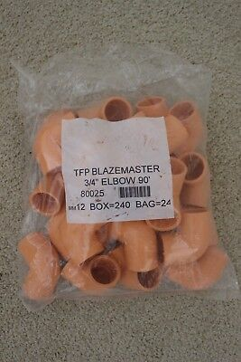 """80025 TFP Blazemaster 3//4/"""" Elbow 90 degree NEW in bag QTY 24"""