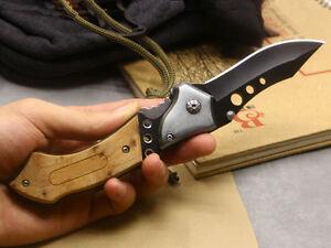 Neu-Scharfe-Holzgriffe-BRN-Messer-Outdoor-Jagd-Camping-Tool-Nylon-Scheide