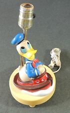 Vintage The Dolly Toy Co Disney Productions Donald Duck Riding A Boat No Shade